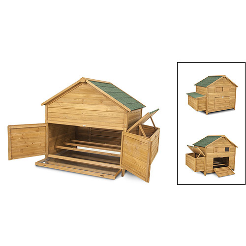 "Aspen Pet 43104 59.5"" x 40"" x 46"" High Capacity Chicken Fort Coop"