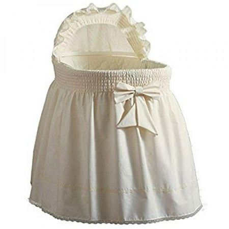 Precious Bassinet Liner Skirt Amp Hood Color Ecru Size 17inch X 31inch Walmart Com