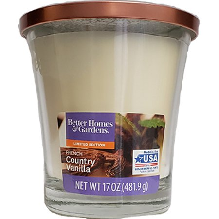 French Vanilla Candle Collection (Better Homes & Garden French Country Vanilla Candle, 17oz )