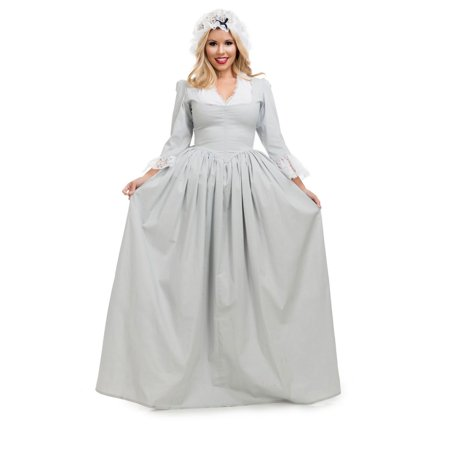 Colonial Halloween Costumes Adults (Halloween Colonial Woman - Grey Adult)