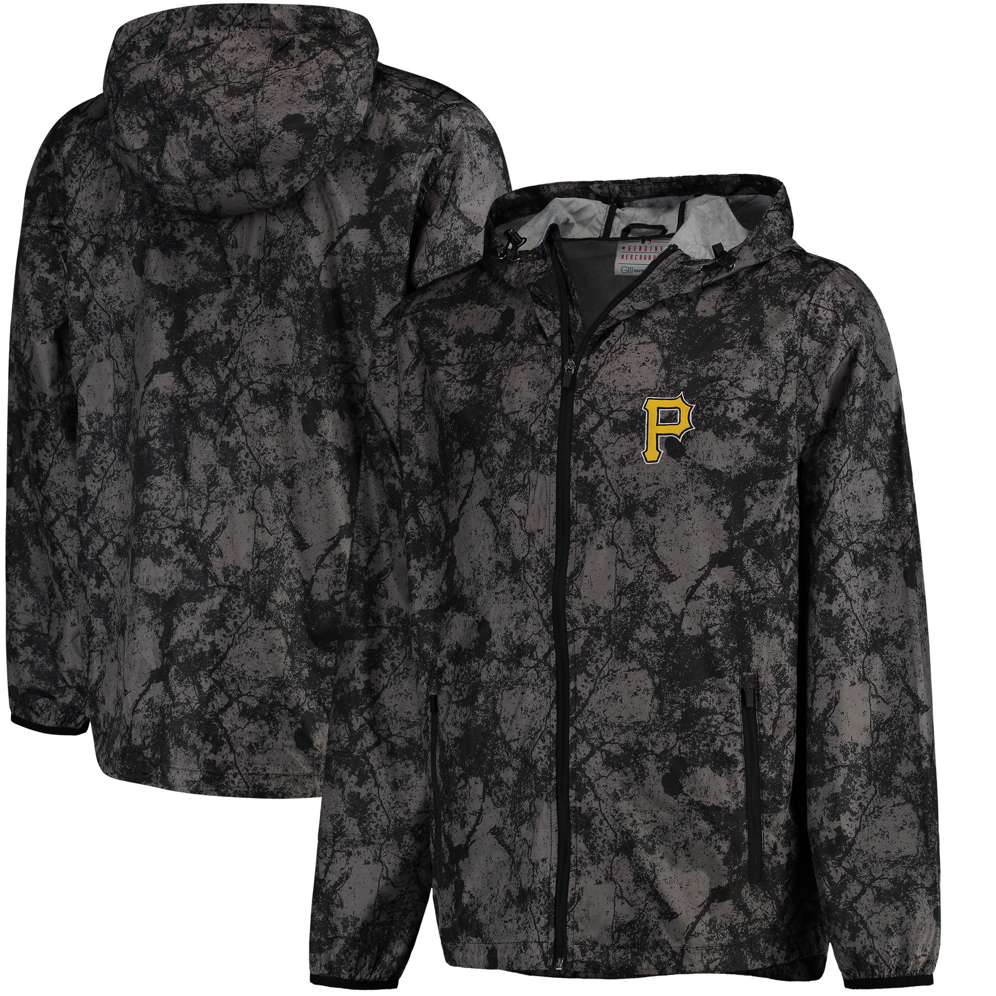 Pittsburgh Pirates G-III Sports by Carl Banks Wind Chill Lightweight Full-Zip Jacket - Charcoal