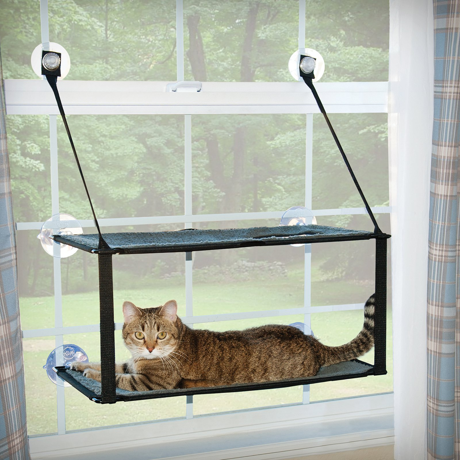 "K&H Pet Products Kitty Sill Double Stack Ez Window Mount, 12"" x 23"""