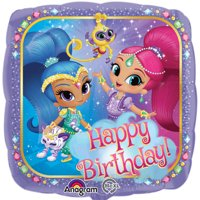 "Shimmer and Shine Happy Birthday Authentic Licensed Foil / Mylar Balloon 18"" ( Each )"
