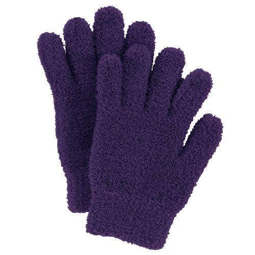 No Boundaries Cozy Chenille Gloves, Purple