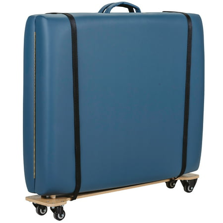 EARTHLITE Massage Table Skate - Lightweight, Wooden Portable Massage Table Cart / Trolley w/ 2 Quick Release Buckle