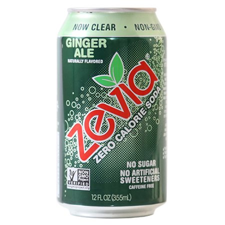 Zevia Ginger Ale Zero Calorie Soda 12 Oz Cans   Pack Of 24