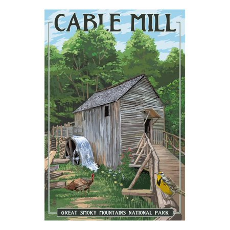 Cable Mill - Great Smoky Mountains National Park, TN Print Wall Art By Lantern