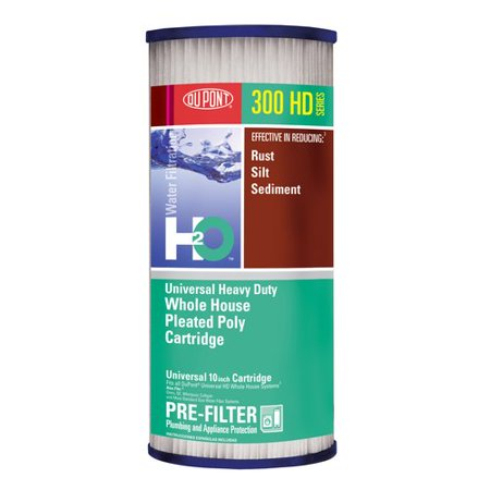 Dupont Universal Heavy Duty Whole House Pleated Poly Cartridge  Series 300Hd
