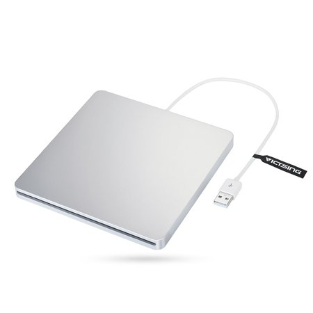 VicTsing USB External Slot CD RW Drive Writer Burner Superdrive for Apple MacBook Pro Air iMAC and other Laptop PC