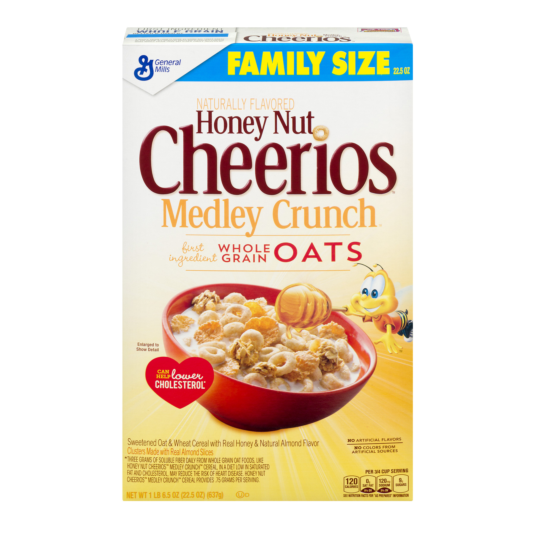 Honey Nut Cheerios Medley Crunch Cereal 22.5 oz. Box