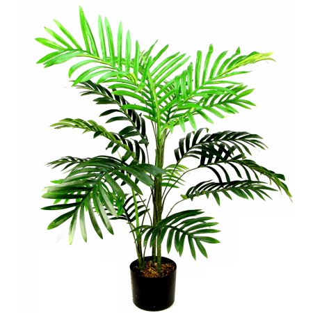 Admired By Nature 3 Feet Artificial Paradise Palm Tree Plant in Plastic Pot, Green ()