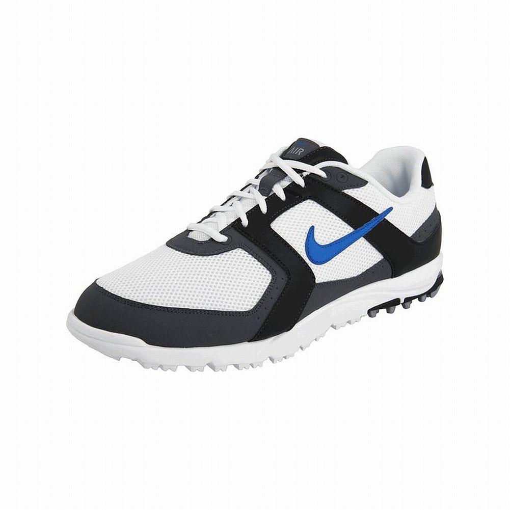 Nike Air Range WP Golf Shoes (White/Blue/Black, 7 M) NEW