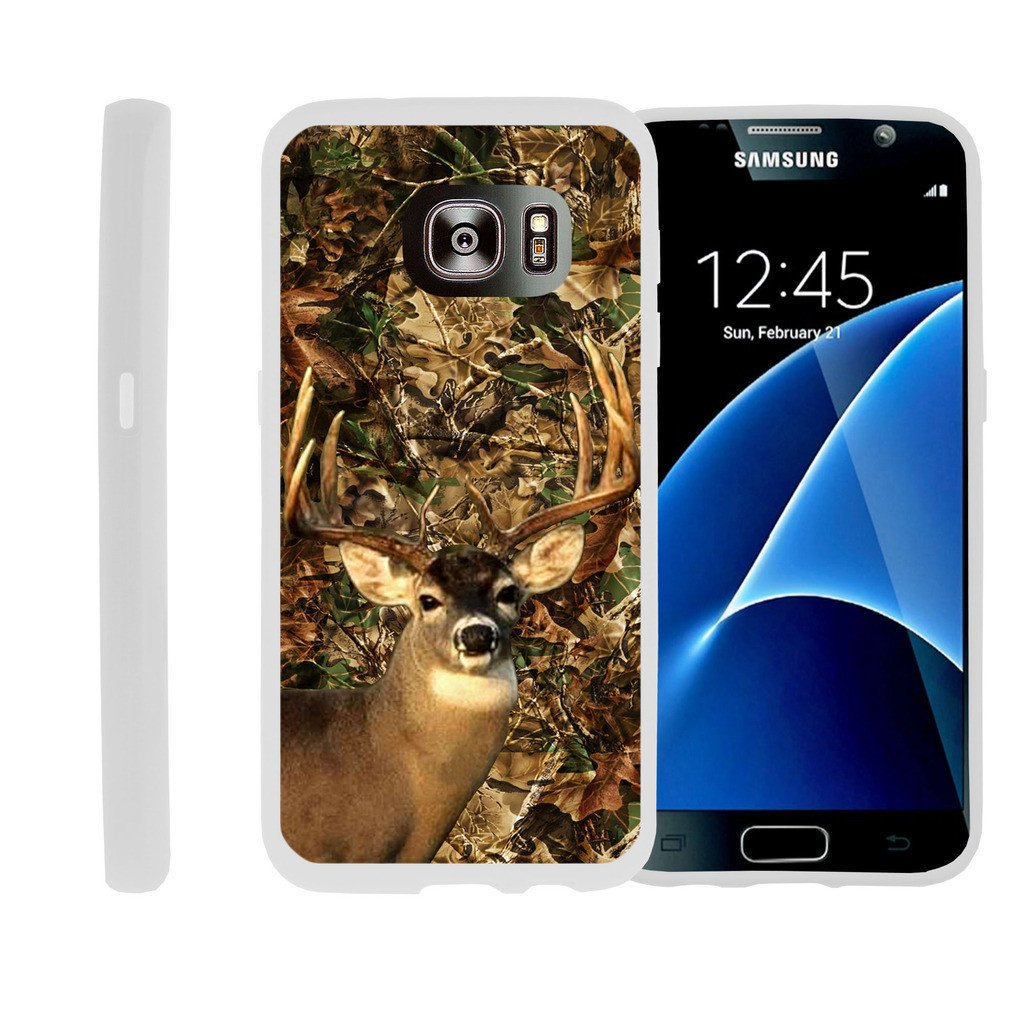 Flexible Case for Samsung Galaxy S6 Edge | SM-G925 Case [ Flex Force ] Lightweight Flexible Phone Case - Deer Hunting Camo