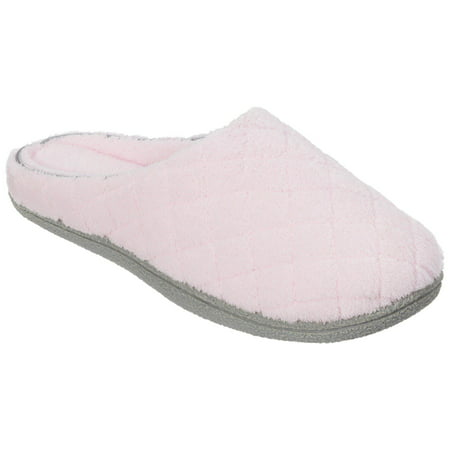 Dearfoams Womens Quilt Memory Foam Clog Slippers Womens Chest Form