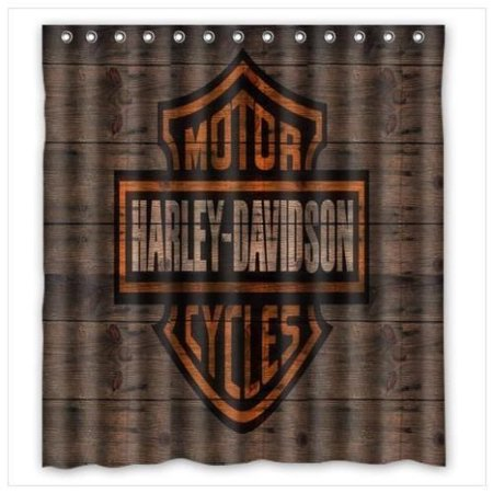 DEYOU Harley Davidson Design Shower Curtain Polyester Fabric Bathroom Shower Curtain Size 66x72 inches
