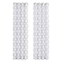 Five Queens Court Ryan Embroidered Sheer Curtain Panel Pair