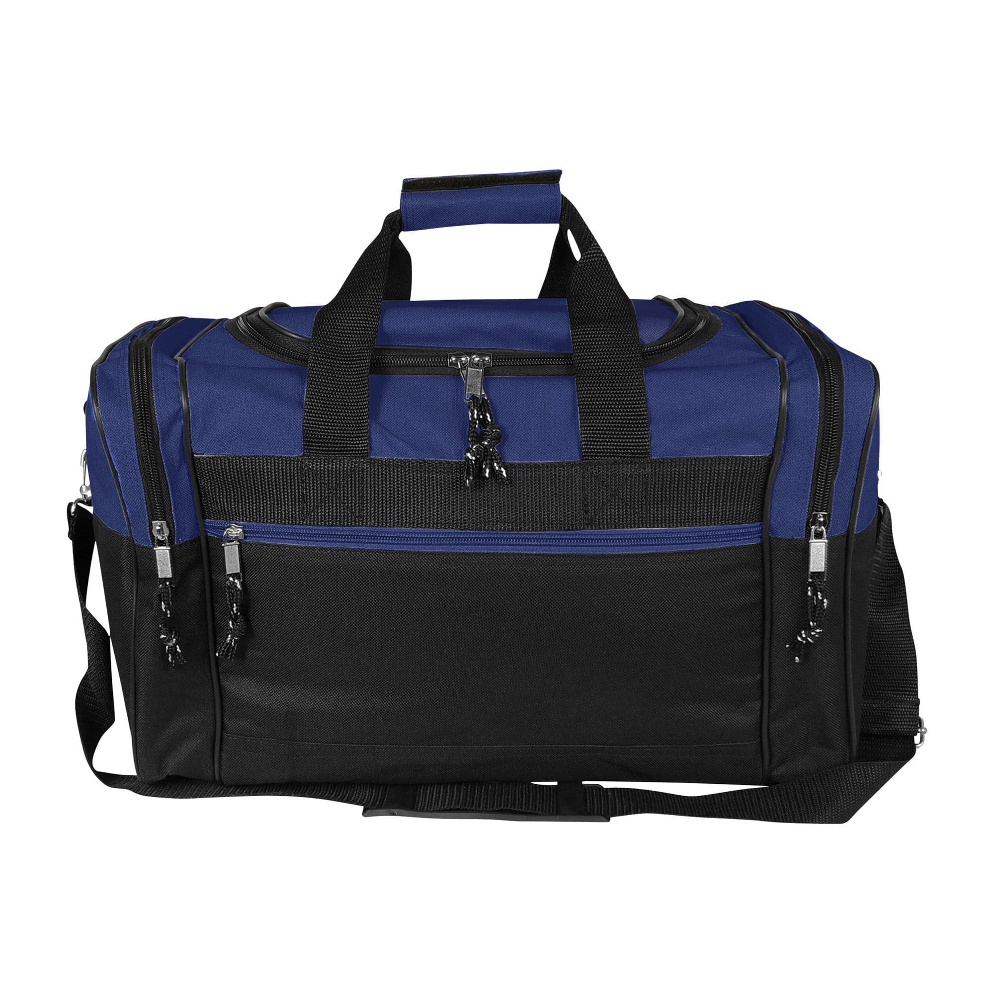"DALIX 17"" Blank Duffel Bag Duffle Travel Size Sports Durable Gym Bag in Black by DALIX"