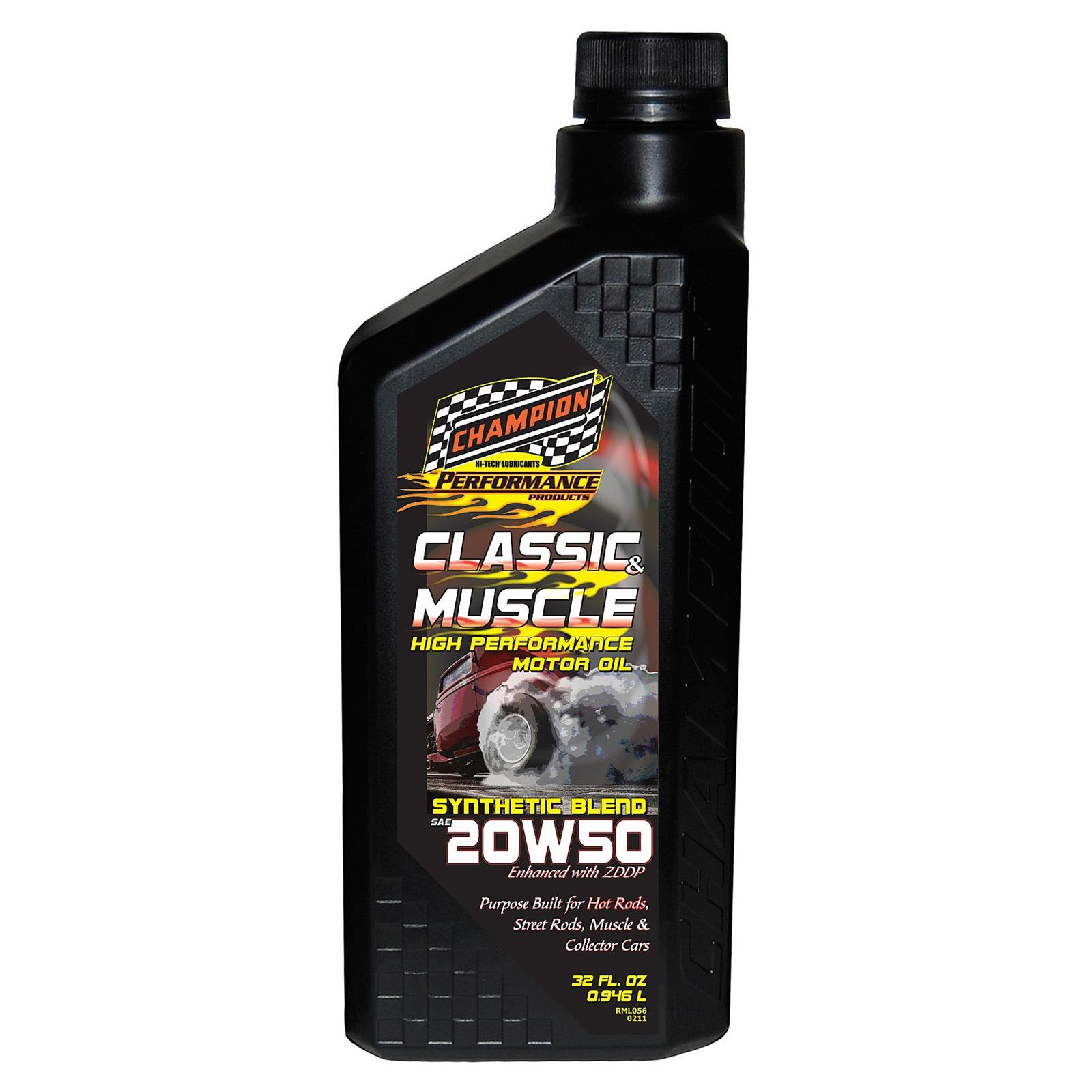 Champion Racing 4214H Classic Muscle Engine Oil, 20W50,6/1 Quarts