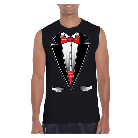 Funny Costume Tuxedo Bow Tie Men Ultra Cotton Sleeveless T-Shirt (Funny Costumes Men)