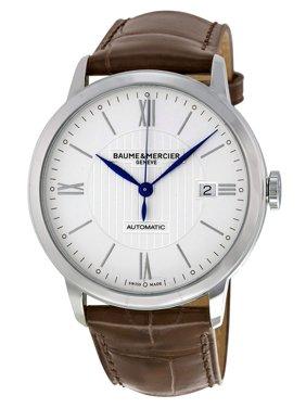 Baume & Mercier Baume et Mercier Classima Automatic Silver Dial Brown Leather Men's Watch 10214