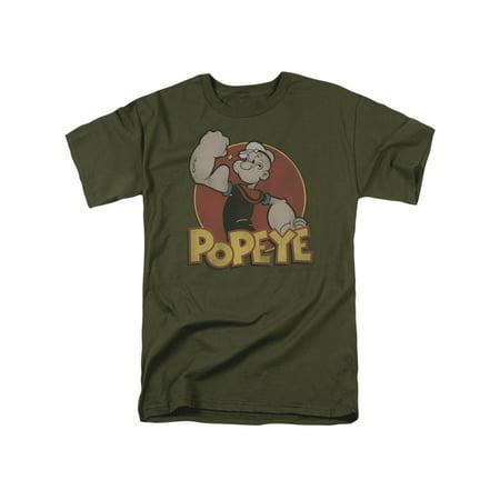 Popeye Iconic Cartoon Sailor Character Popeye Retro Logo Flex Adult T-Shirt Tee
