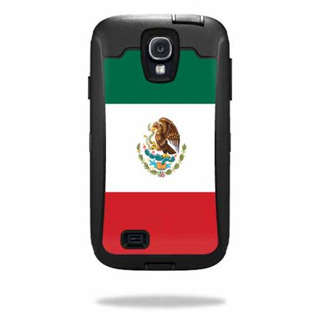 Mightyskins Protective Vinyl Skin Decal Cover for OtterBox Defender Samsung Galaxy S4 Case wrap sticker skins Mexican Flag