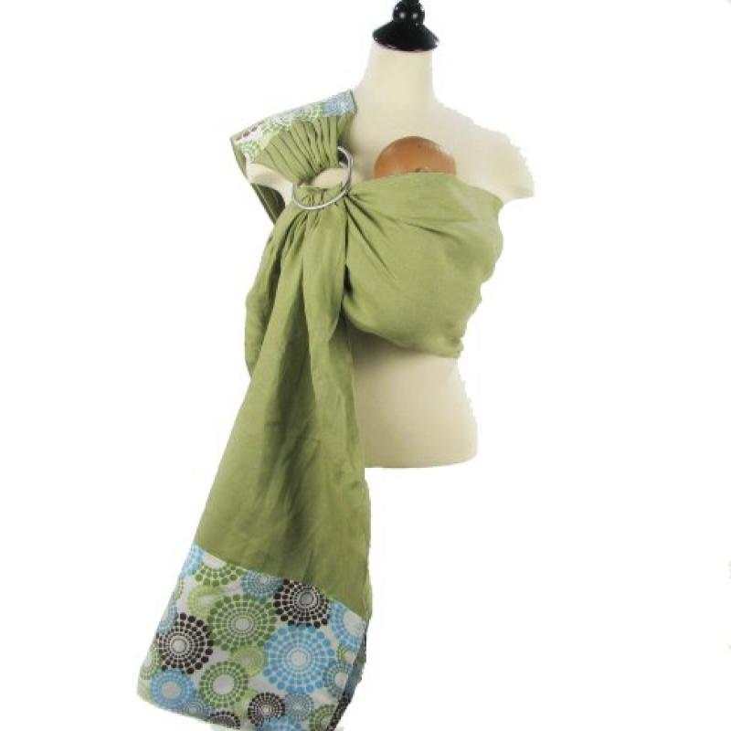 Snuggy Baby Linen Banded Ring Sling Spa Fizz by Snuggy Baby