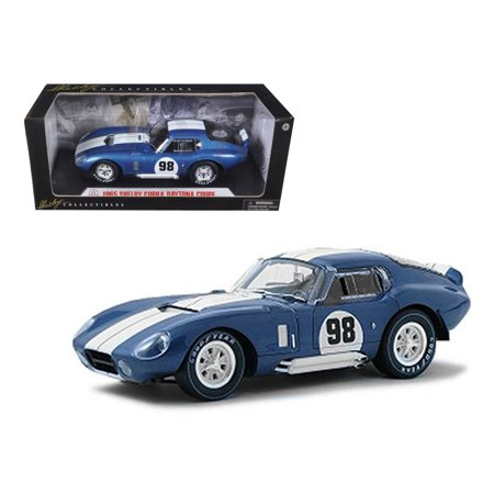 1965 Shelby Cobra Daytona Coupe Blue #98 1/18 Diecast Model Car by Shelby Collectibles