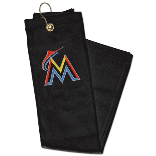WinCraft Miami Marlins Embroidered Golf Towel - Black - No Size