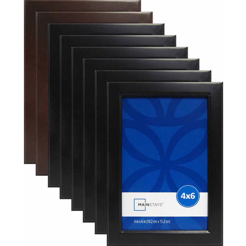 Mainstays 4x6 Stepped Frame, Set of 8 (6 Black and 2 Brown)