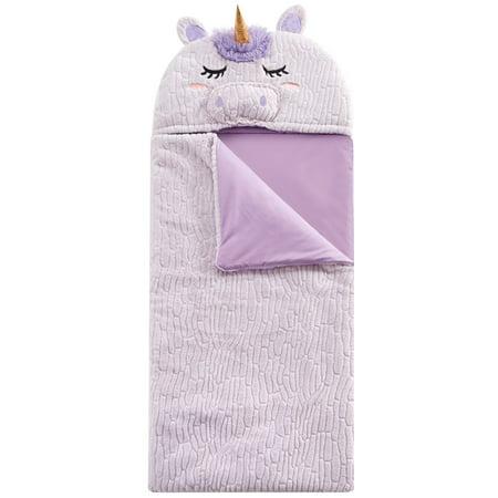 American Toddler Textured Unicorn Rabbit fur Sleeping Bag - Personalized Toddler Sleeping Bags