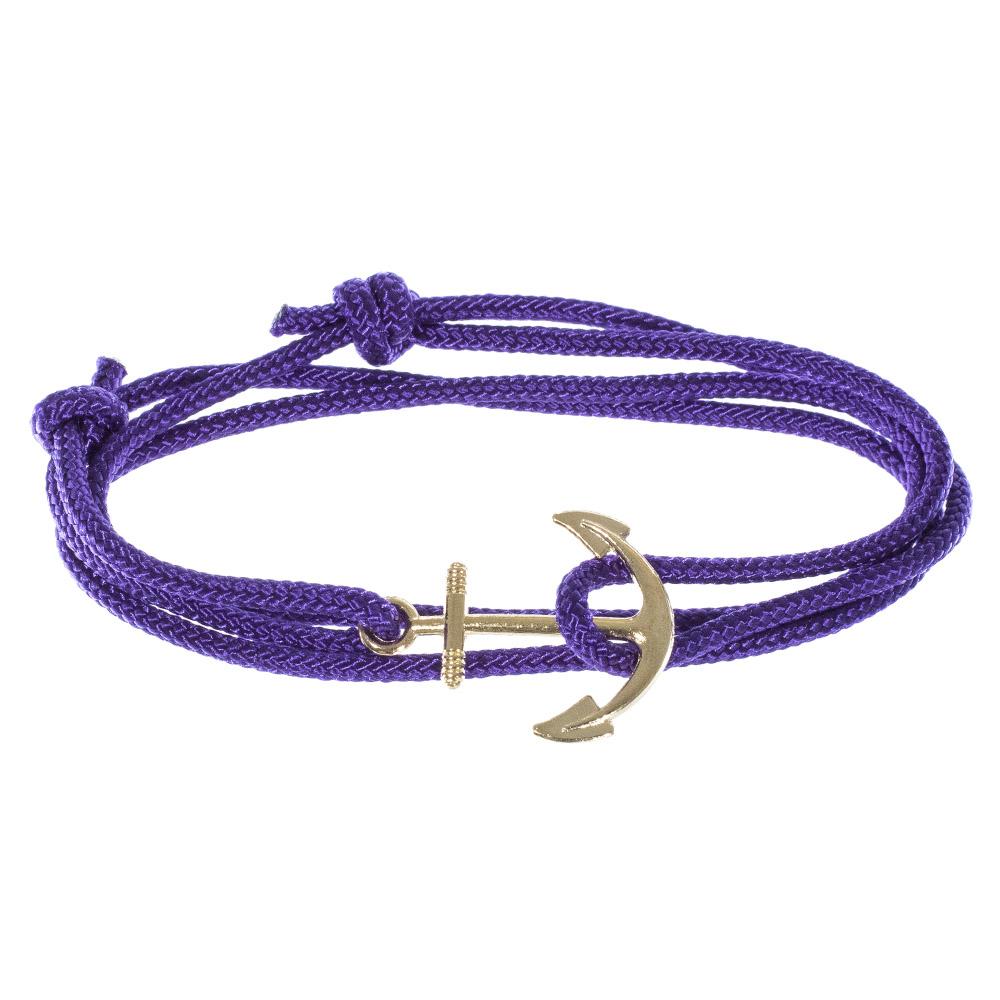 Adjustable Classic Purple Anchor Bracelet
