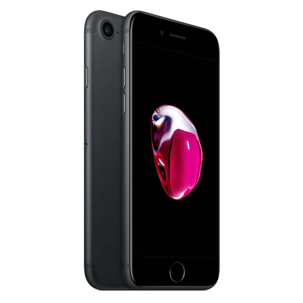 Straight Talk Apple Iphone 7 W 32gb Prepaid Phone Black Walmart Com Walmart Com