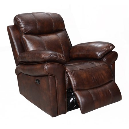 - Hudson Top Grain Leather Power Recliner