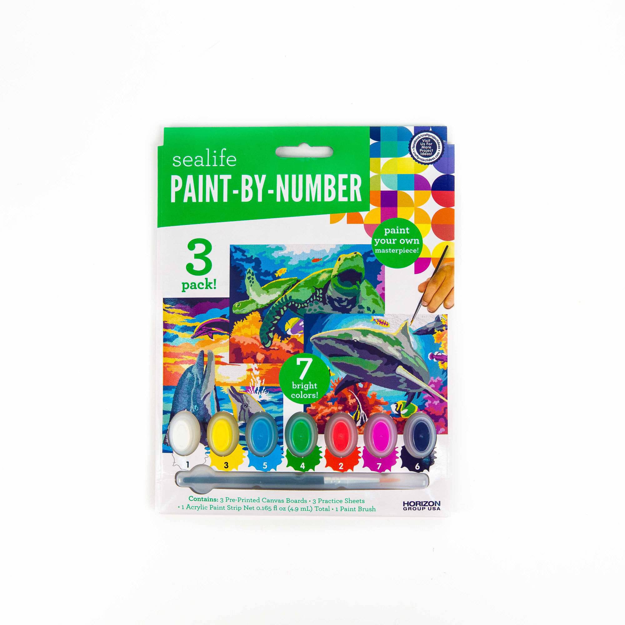 Assorted Paint-by-Numbers Canvas Boards, 3PKS - 12 Boards Total by ...