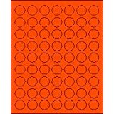 """1"""" Round Fluorescent Red Labels for Laser Printers, Inkjet Printers or Copier Machines. (GLC100FR)"""