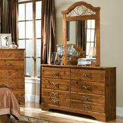 Standard Furniture Hester Heights 56 Inch Dresser in Dark Old Wood