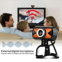 EOTVIA 360 Degree Rotation USB2.0 Webcam 16M Pixel HD Web Camera With External Digital Microphone, 360 Degree Rotation USB Webcam,Webcam