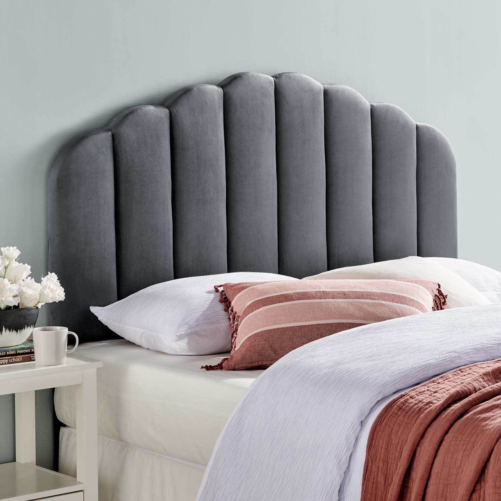 Modway Veronique Twin Performance Velvet Headboard Multiple Colors Walmart Com Walmart Com