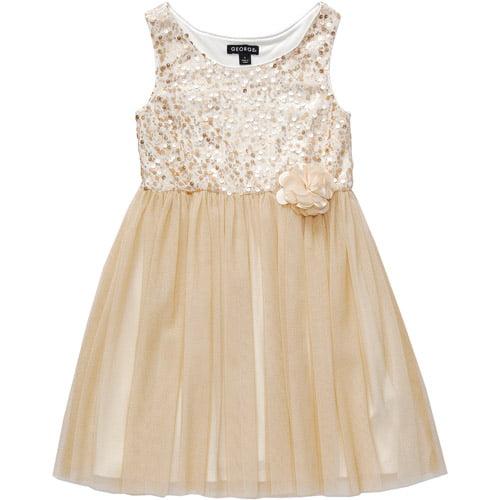 George Girls' Sleeveless Sequin Mess Dress