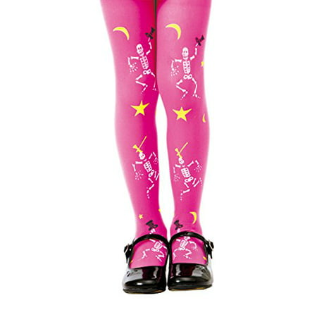 Boo! Inc. Pink Mid-rise Spooky Skeletons Halloween Children's Cosplay Costume Tights - Mid Valley Halloween