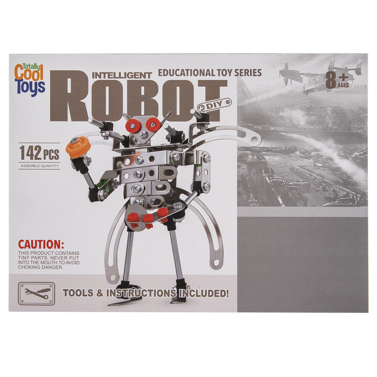 Totally Cool Toys (142pc) Metal Alloy Robot Building Set Kids Educational Construction... by Totally Cool Toys