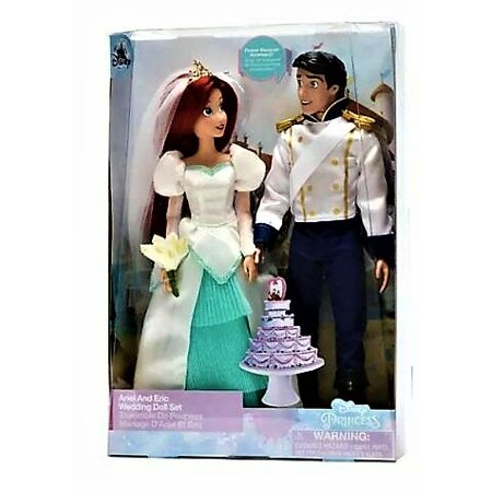 Disney Little Mermaid Ariel And Prince Eric Wedding Doll Set Princess Bride](Princess Ariel Ball Gown)