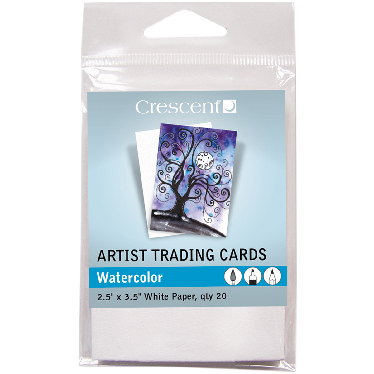 "Crescent Artist Trading Cards 2.5""X3.5"" 20/Pkg-Watercolor"