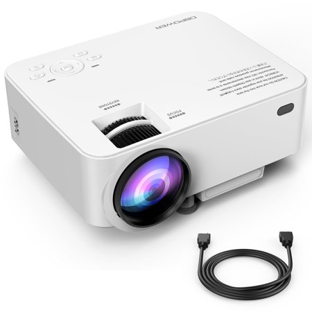 DBPOWER T20 1500 Lumens LCD Mini Projector, Multimedia Home Theater Video Projector Support 1080P HDMI USB SD Card VGA AV Home Cinema TV Laptop Game iPhone Android Smartphone with HDMI Cable](24 apple led cinema display a1267 lcd silver)
