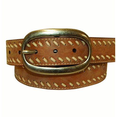 - Cowgirls Rock Western Belt Womens Leather Lacing Smooth Tan 9621300
