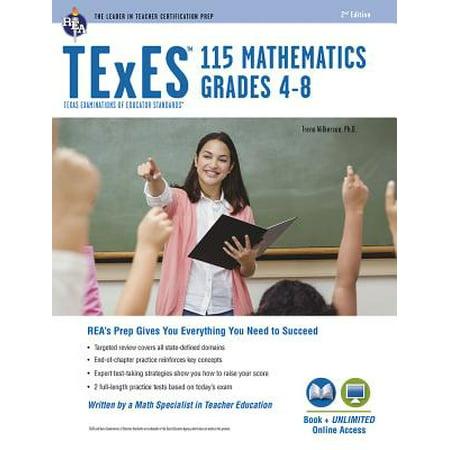 TExES Mathematics 4-8 (115), 2nd Ed., Book + Online