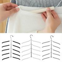 Magic Save Closet Space Clothe Organizer Purse Multi-function ABS Set of 6 Hangers 1pc SEC