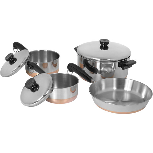 Revere Copper Bottom Line 7-Piece Set, Stainless Steel
