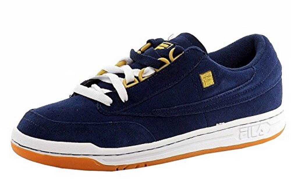 Fila Men's Original Tennis Navy White Gold Fashion Suede Sneakers Shoes by Fila